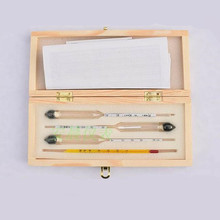Hydrometer-Meter Concentration-Instrument-Meter Alcohol Wine Vodka Wooden-Box Whiskey
