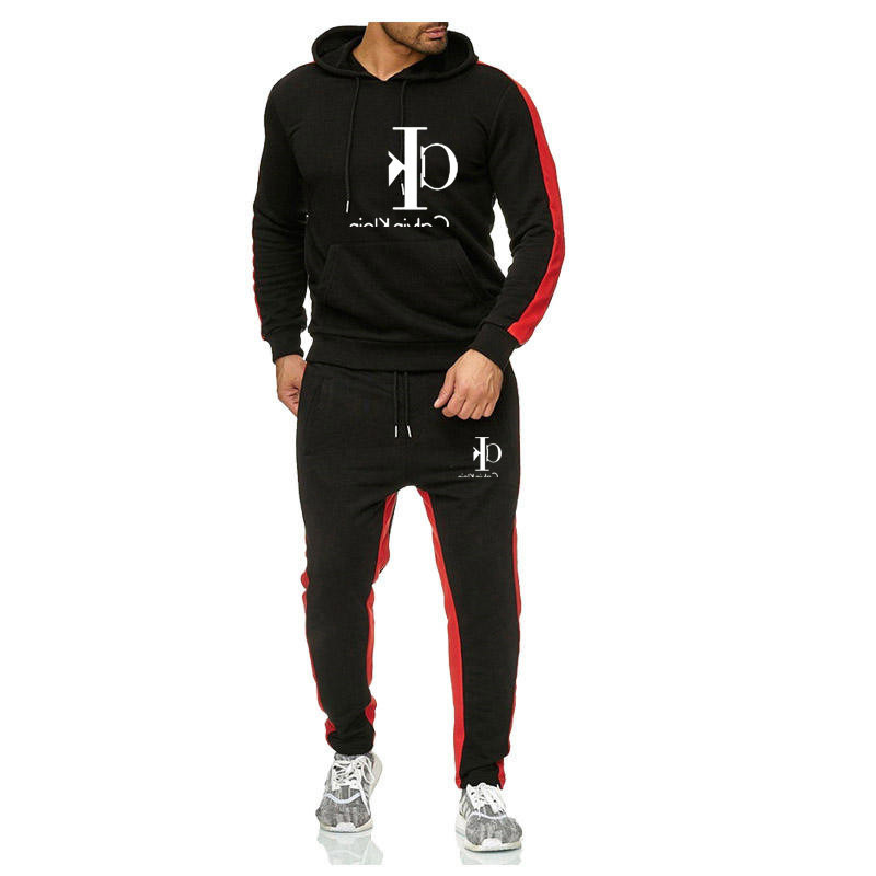 Cross Border European And American Style Men's Leisure Sports Suit 2-piece Business Leisure Gym Sportswear Running Suit