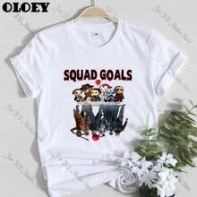 Футболка для любителей фильмов ужасов squad goles женская футболка
