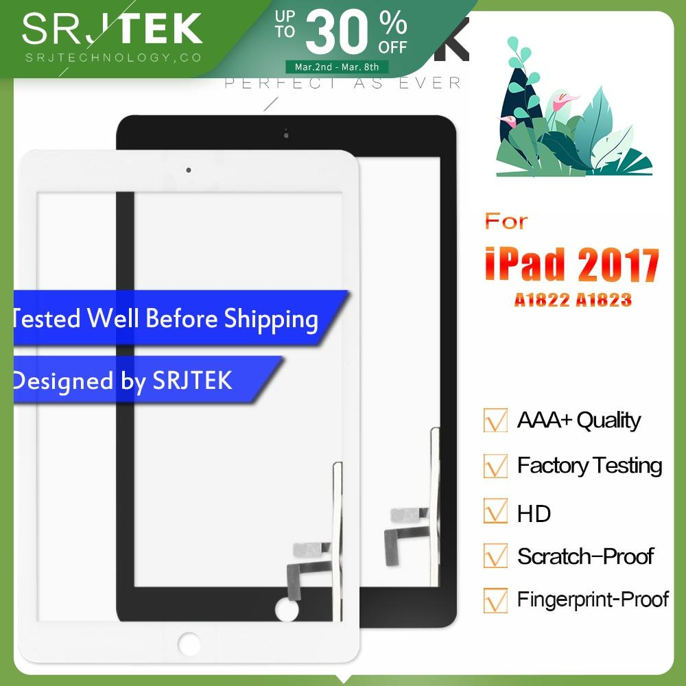 Touchscreen For IPad 2017 Touch Screen Digitizer For IPad 5 IPad 9.7 2017 A1822 A1823 Screen Glass Panel Replacement Sensor
