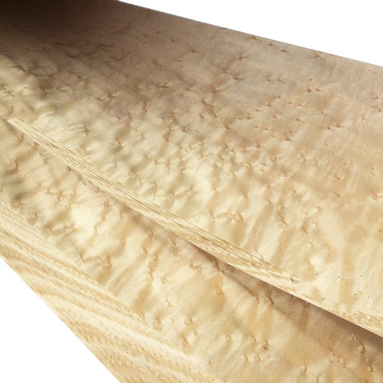 Natural Genuine Canada Maple BirdsEye Wood Veneer For Furniture Vehicle Musical Instrument
