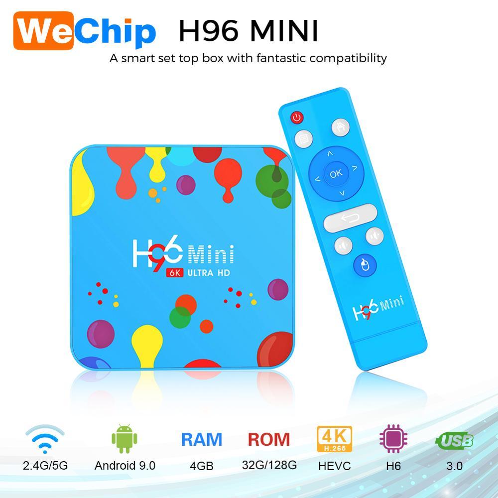 Wechip 4GB 128GB H96 Mini Android 9 0 TV Box Allwinner H6 Quad Core 6K H
