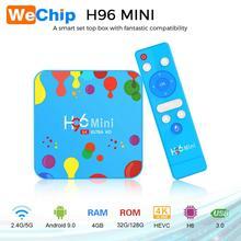 Wechip 4GB 128GB H96 Mini Android 9.0 TV Box Allwinner H6 Qu