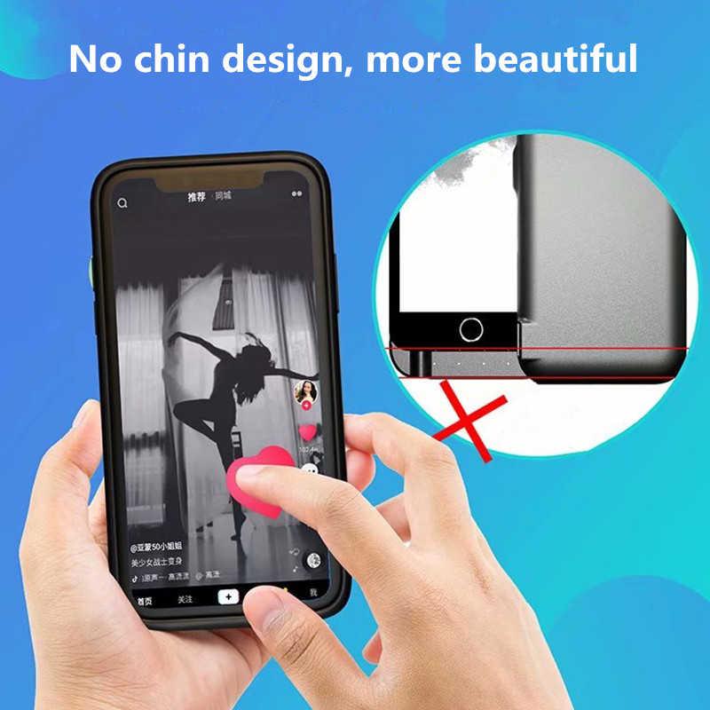 NENG 5000mAh נייד מטען מהיר סוללה מקרה עבור iPhoneX Xs סוללה מקרה Ultra דק חזרה קליפ סוללה מקרה עבור iPhoneXr XsMax