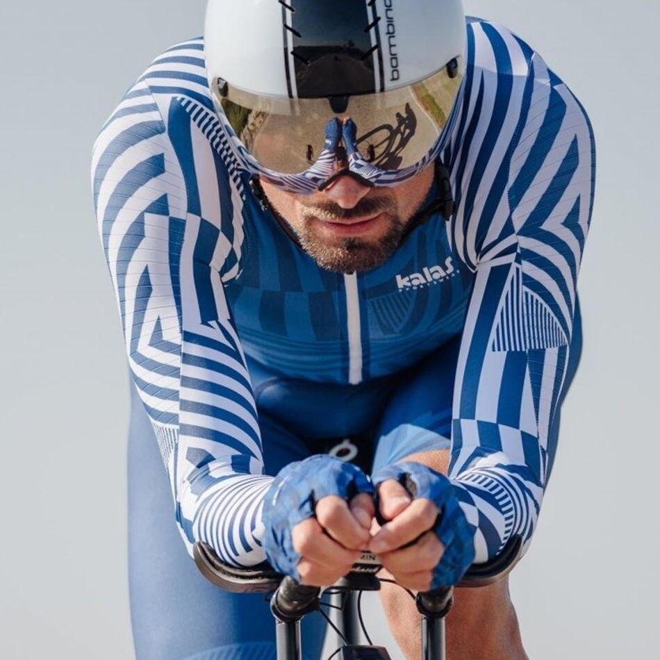 Pro Team USA KALAS cyclisme Club UCI hommes à manches longues combinaison collants vêtements de Sport course vêtements de vélo Gel Pad ensemble de Cycle