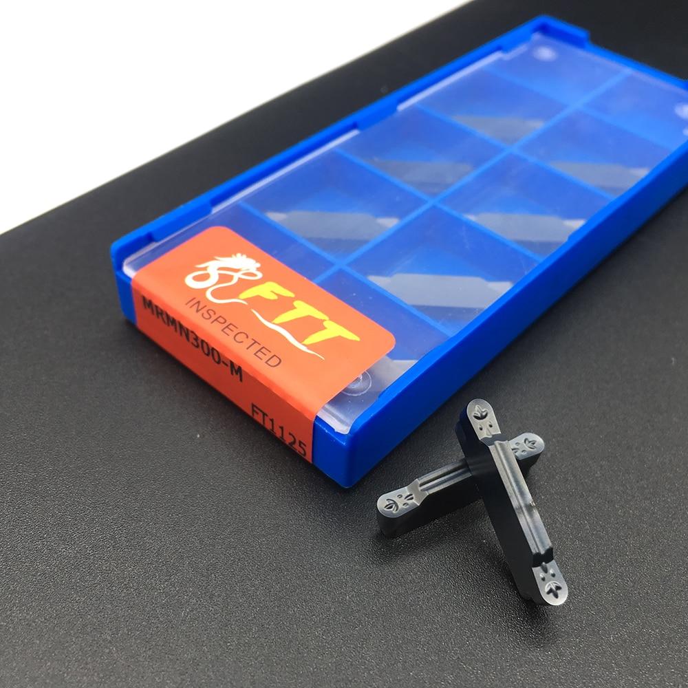 High Quality 10pcs MRMN300 M FT1125 Grooving Carbide Inserts Turning Tools CNC Metal Lathe Tools MRMN Grooving Inserts