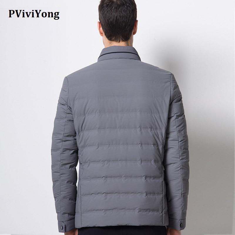 PViviYong 2019 Winter hoge kwaliteit witte eend donsjack mannen, mandarijn Kraag korte paragraaf rits parka Jas mannen 1690 - 6