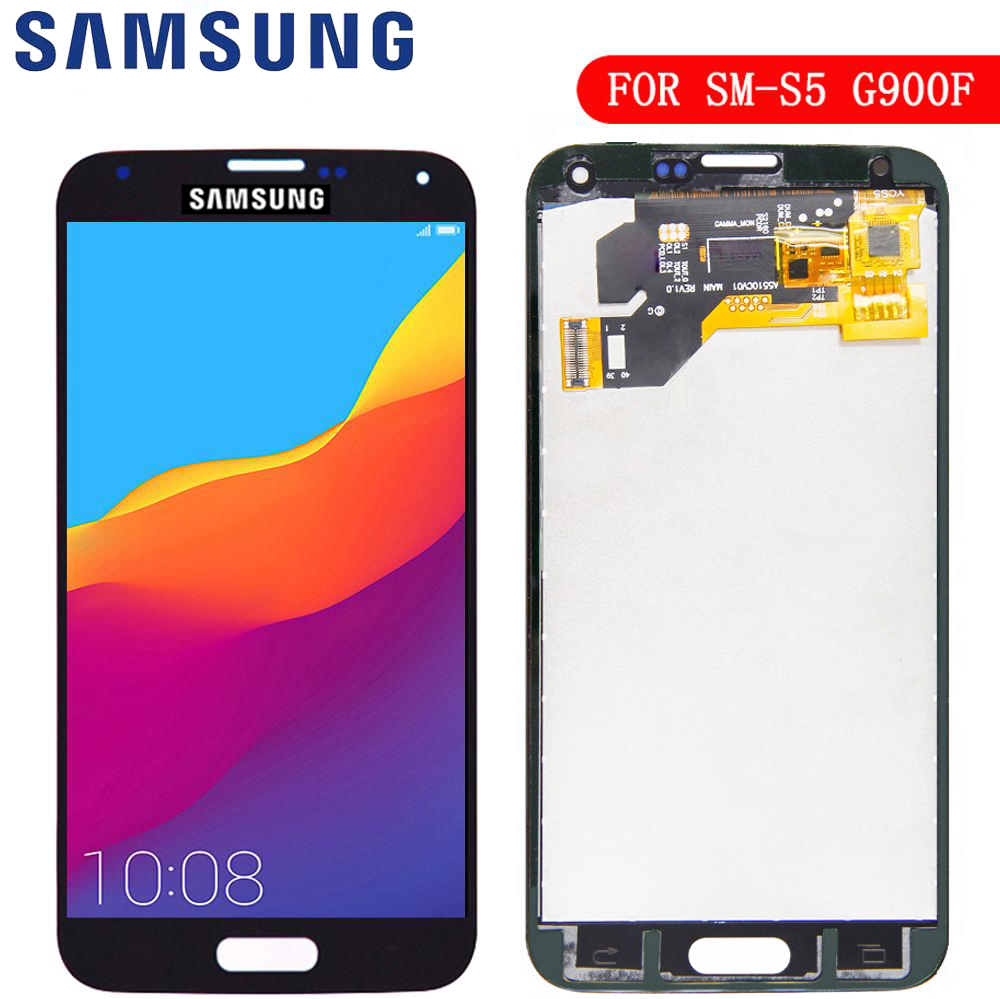 New LCD For Samsung S5 G900F Display LCD Screen Touch Digitizer Assembly Compatible For Samsung Galaxy S5 G900 G900F LCD