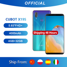 "Cubot X19 S Smartphone Helio P23 Octa Core Dual Camera 16MP 5.93"" 2160*1080 FHD+ Face ID 4000mAh Big Battery 4GB+32GB 4G LTE"