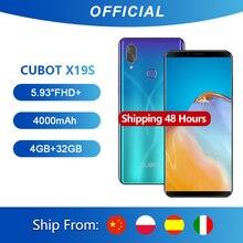 "Cubot X19 S Smartphone Helio P23 Octa çekirdekli çift kamera 16MP 5.93 ""2160*1080 FHD + yüz kimliği 4000mAh büyük pil 4GB + 32GB 4G LTE"