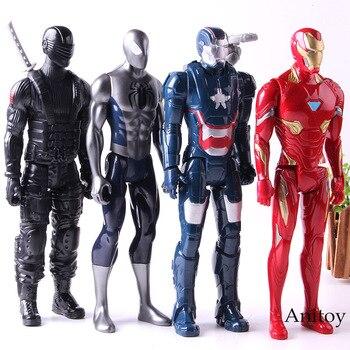 Marvel Titan Hero Series Ultimate Spider-man Spiderman Iron Man Figure Action PVC Collection Model Toys фото
