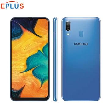 Купить Оригинальный Новый мобильный телефон samsung Galaxy A30 A305F-DS LTE, 6,4 дюймов, 4 Гб ОЗУ, 64 Гб ПЗУ, четыре ядра, Android 9,0, две sim-карты, отпечаток пальца