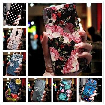 Per Redmi Caso 9AT 3D Fiore Rilievo Del Silicone Del Telefono Della Copertura Per Xiaomi mi 10 T Lite / Mi10T Pro Caso morbido Sollievo Redmi 9A 10 T