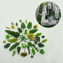 30PCS 3-10cm Model Tree Architecture Finished Sandtable Building Road Landscape Layout With Beautiful Green Product ABS Plastic