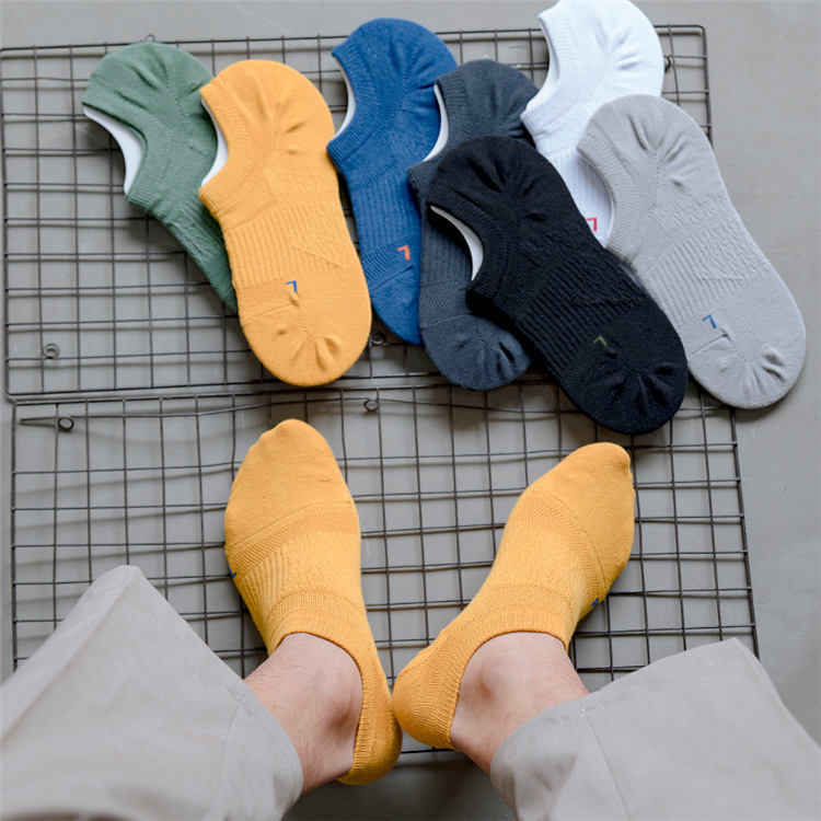 Men Sock 2020 Spring Fashion Ankle Socks For Men No Show Invisible Color Cotton Socks Man Summer High Quality Socks Men