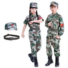 Детская армейская военная форма для мальчиков, тактические костюмы для скаутов, Детские камуфляжные тренировочные боевые куртки для девочек, костюмы джунглей