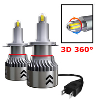 H7 LED Headlamp Headlights-Bulb 360-Lighting H11 H3 H9 H8 Car H10 8-Side 3D