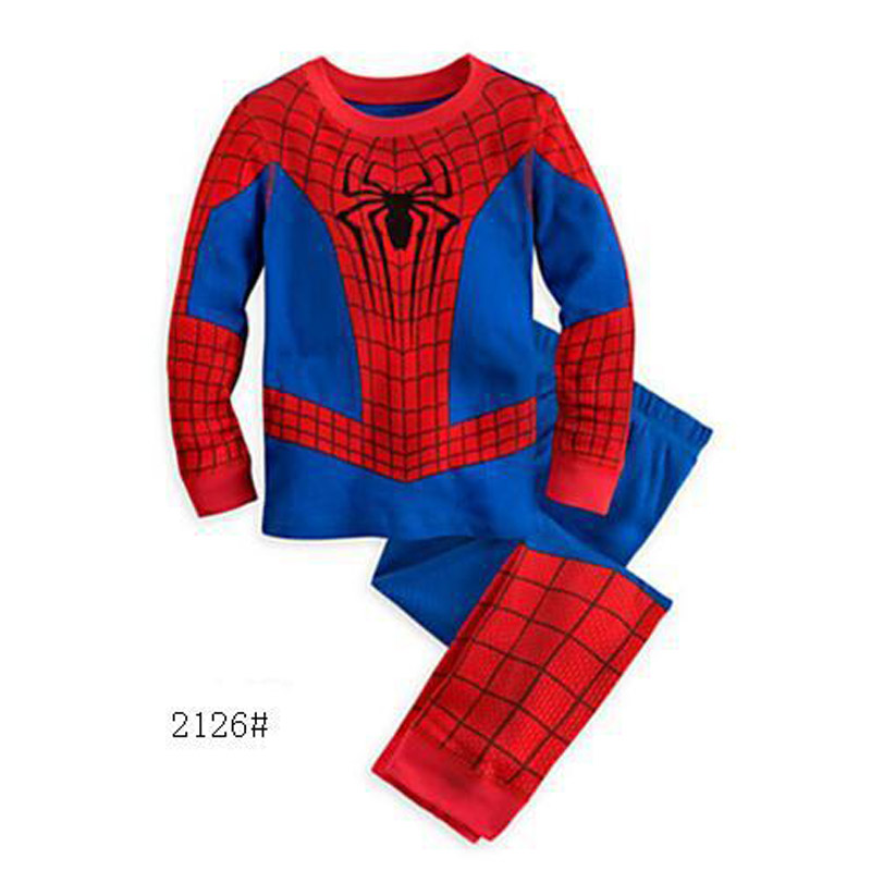 Toddler Cartoon Pyjama Enfant Captain America Pajama Set Boys Clothes Baby Spiderman Pajamas Batman Kids Pijama Infantil Cotton