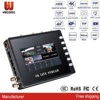 2021New K21 3 Sim Karten Bindung Router 4G 3G Multilink WIFI SDI HDMI Mixer Switcher 4K Encoder decoder Video ABR SRT