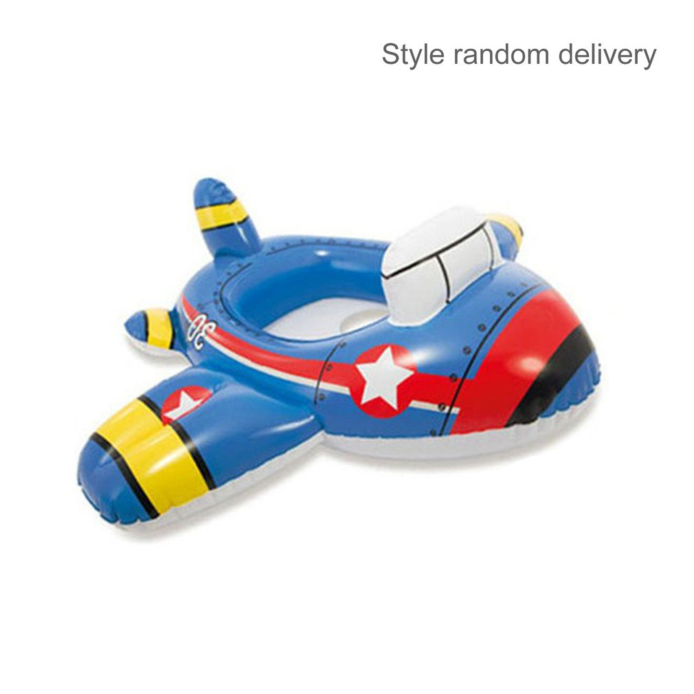 Cute Baby Cartoon Water Float Thicken PVC Inflatable Circle Seat Boat Toy Safety Nflatable Swimming Laps Kids Pool Swimming Ring