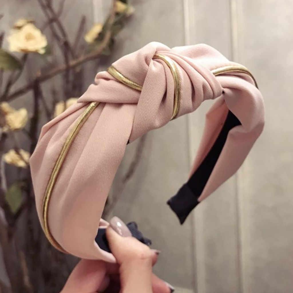 Moda Arco Nó Hairband para As Mulheres Cabelo Faixa de Veludo Cabeça de Argola Simples Doce Meninas Headband Do Cabelo Acessórios de Cabelo Turbante