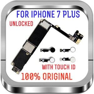 Image 2 - Разблокированная материнская плата без сенсорного распознавания отпечатков пальцев для Apple 7 логическая плата с чипами 32 Гб 128 ГБ 256 ГБ для материнской платы iPhone 7 Plus