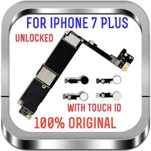 Image 2 - Unlocked Mainboard With NO Touch ID Fingerprint For Apple 7 Logic Board with Chips 32G 128G 256GB For iPhone 7 Plus motherboard