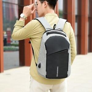 Image 3 - Fashion Male Backpack Anti Theft Student Men Laptop Backpack Waterproof Men School Backpacks Travel Fold Teen School bags