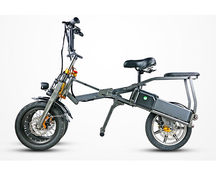 JX003 High speed electric bike 350w 48V 3 wheel foldable electric bicycle e scooter 2