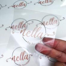 Прозрачная наклейка на заказ самоклеящаяся прозрачная печать высокого качества