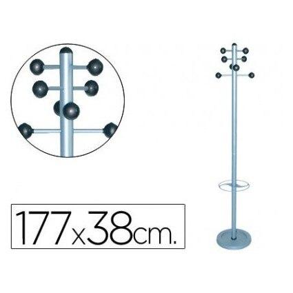 COAT RACK METAL 626 WITH UMBRELLA Stand-foot 8 Hangers 1,77x38 Cm