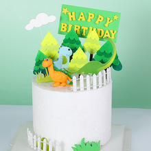 3Pcs/bag Forest Tree Happy Birthday Cake Topper Cartoon Forest Theme Party Cake Decoration Candy Shower Kids Party Supplies dinosaur theme happy birthday cake topper candy bar baby shower kids party supplies child birthday party cartoon decoration