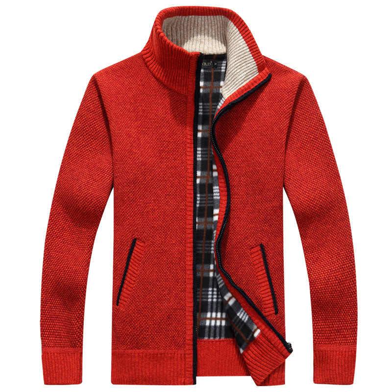 2019 가을 겨울 남성 스웨터 코트 가짜 모피 스웨터 자켓 남성 지퍼 니트 두꺼운 코트 따뜻한 캐주얼 니트 가디건