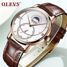 Часы наручные olevs Мужские кварцевые спортивные роскошные модные