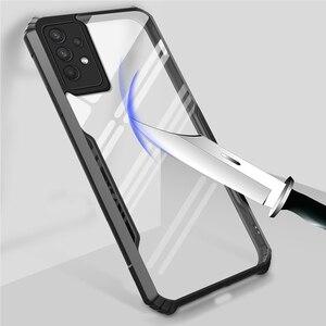 Image 5 - Pour Samsung Galaxy A32 4G 5G Antichoc de Luxe Cadre Clair Étui de Téléphone Pour Samsung A32 32 a32 4g 5g Transparent Airbag Arrière