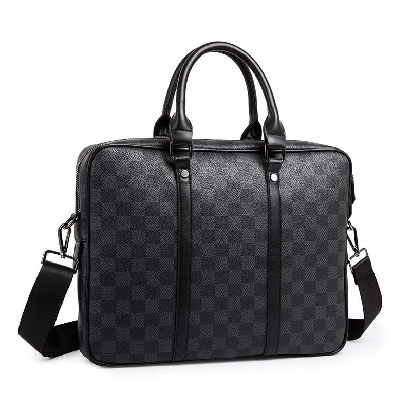 2020 New Men Casual Briefcase Business Shoulder Bag Leather Messenger Bags Computer Laptop Handbag Bag Men's Travel Bags