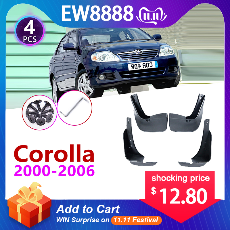 For Toyota Corolla E120 E130 2000~2006 Mudflap Fender Mudguard Mud Flaps Guard Splash Flap Accessories 2001 2002 2003 2004 2005