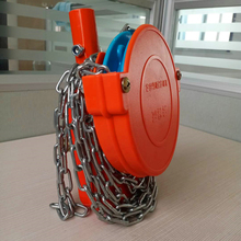 Film Coiling Machine for Greenhouse Roof Manual Chain Film Coiling Machine