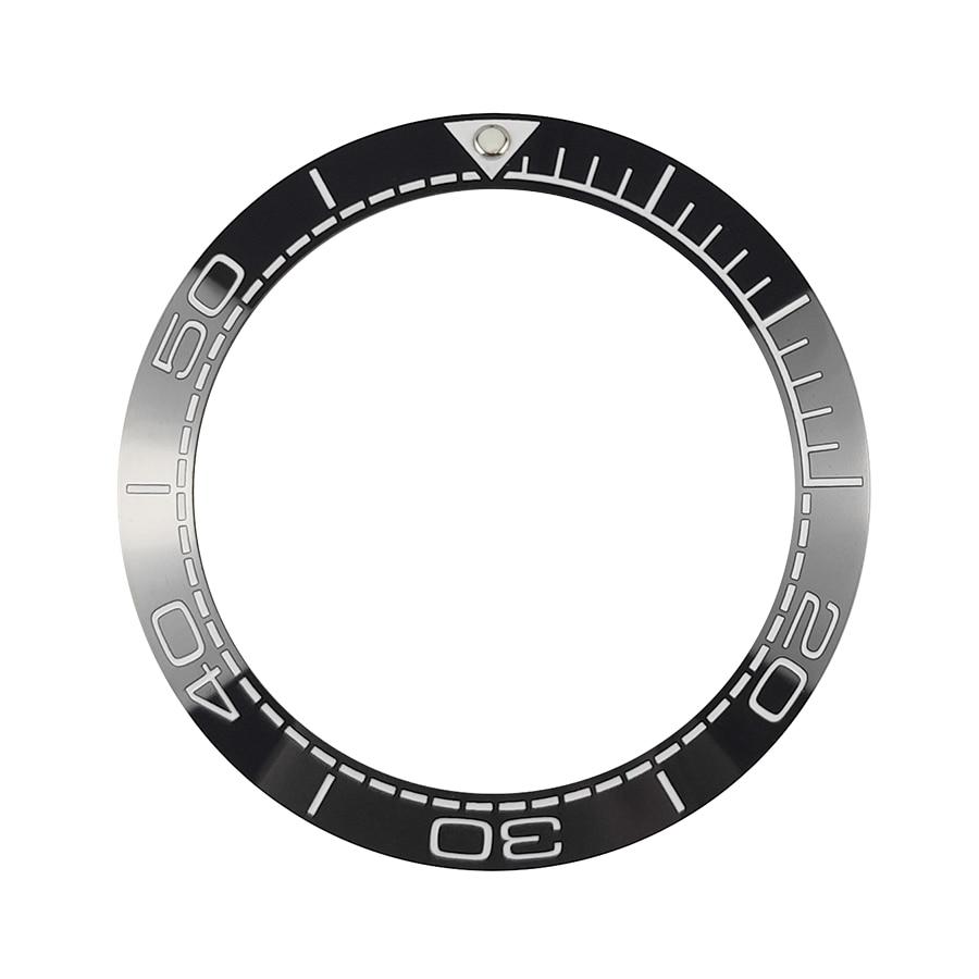 Insert para Mergulhador Preto com Lumed 41.5mm de Alta Novo Qualidade Cerâmica Bezel Relógios Substituir Acessórios Mar Mestre Estilo Pip