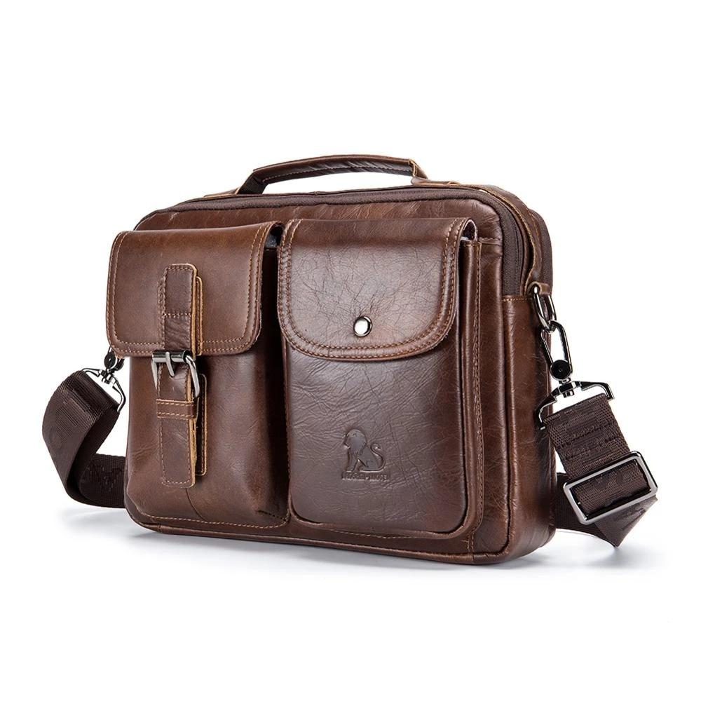 Men Leather briefcases Handbags Casual Laptop Bag Male Business Travel Messenger