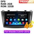 Автомагнитола 2 Din, 4G, Android, мультимедийный видеоплеер для Mazda 3, 2010, 2011, 2012, GPS-навигация, аудио, 2 Din
