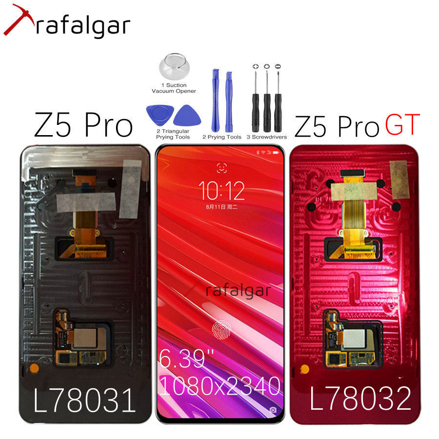 For Lenovo Z5 Pro GT LCD Display Touch Screen Digitizer With Frame AMOLED Screen For Lenovo