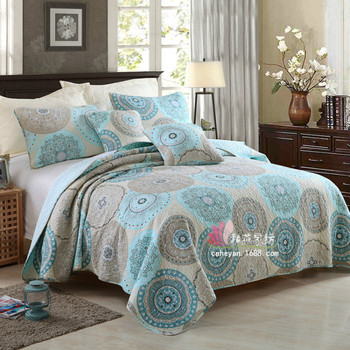 Bedding European and American Style Cotton Plain Three-Piece Cotton Printing