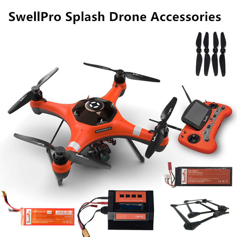 SwellPro SplashDrone 3+ Original Battery Charger Etc Spare Parts For SwellPro Splash Drone 3+ Professional Fishing Camera Drone