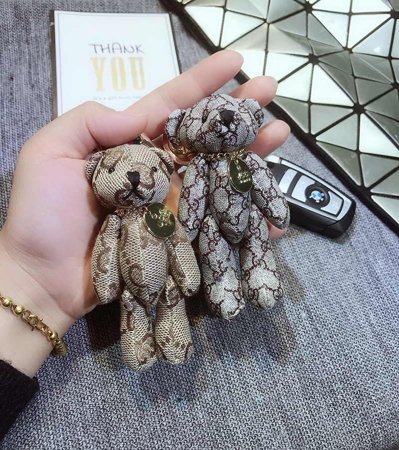 2020 New Cute Leather Tassel, Fashion Bear Keychain Ring Ornament For Bag Key Chain Men And Women Give A Small Gift