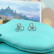 SHINETUNG S925 Earrings High Quality 1:1 With Logo Zircon Inlay Clover Women Fashion Gift Jewelry