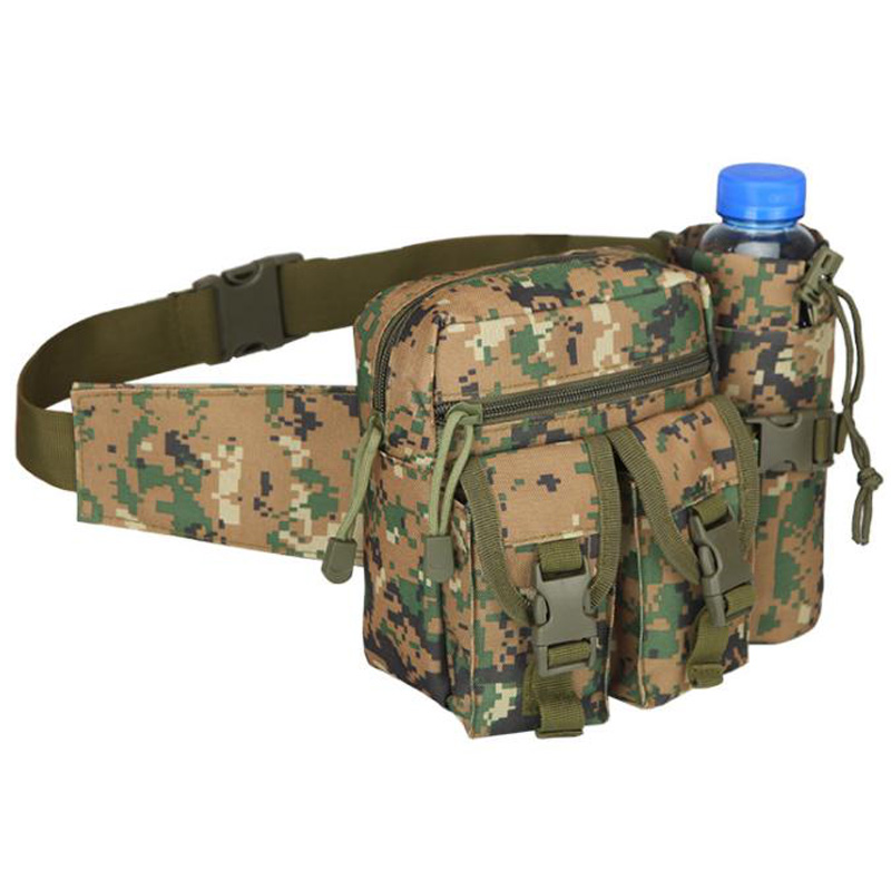 Outdoor Shoulder Bag Waterproof Oxford  Cloth Camping Hiking Pouch Kettle Bag Waist Pack Bag Camping Multi-Function Pocket