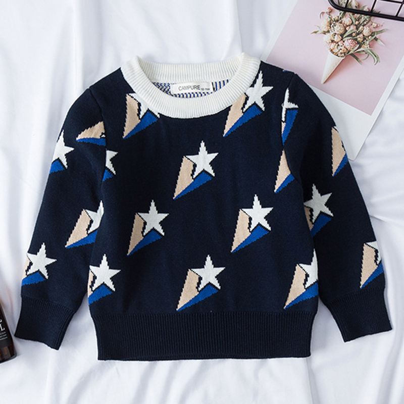 1-6Yrs New 2020 Boy Girl Long Sleeve Loving Heart Knitted Sweater Autumn Winter Boys Girls Sweaters For Baby Girls Kids Sweater 9