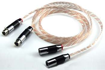 hifi XLR Cable High Performance OCC 2XLR Male to Female Cable With Carbon Fiber Plug