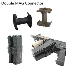 Универсальный зажим для винтовки, двойной параллельный журнал для AK AR15 M4 Mag595 Airsoft Link, Круглый картридж, скоростной погрузчик, пистолет, аксес...